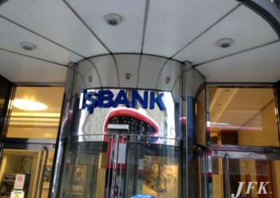Built Up Letters for Is Bank
