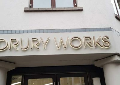 Illuminated Lettering Sign for Drury Works