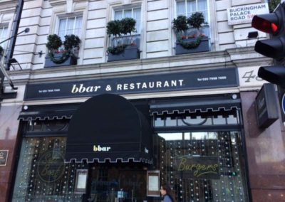 Fascia Sign and Canopy for bbar Restaurant
