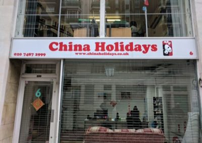 Illuminated Sign for China Holidays