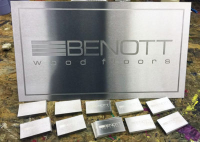 Stainless Steel Plaque for Benott Wooden Floors