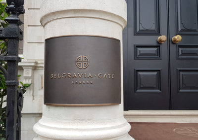 Cast Sign for Belgravia Gate