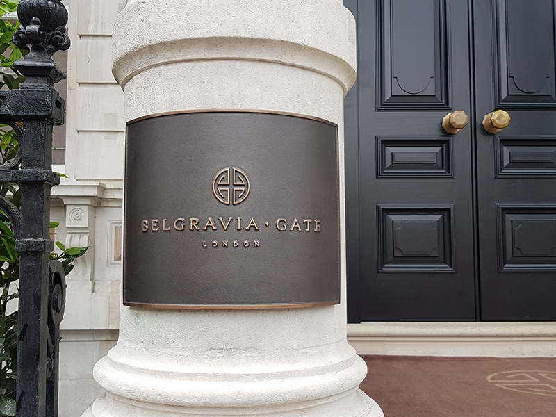 Cast Sign for Belgravia Gate