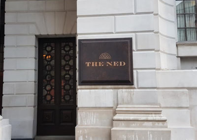 Cast Sign for The Ned