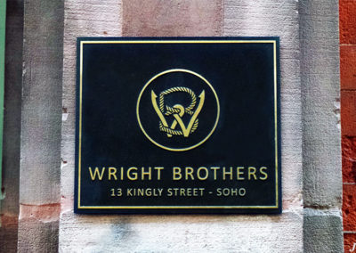 Cast Sign for Wright Brothers