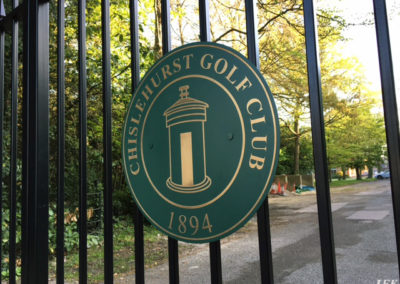 Brass Plaque for Chilsehurst Golf Club