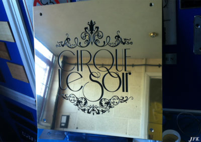 Stainless Steel Plaque for Cirque Le Soir