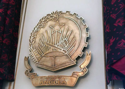 Bronze Plaque for Consulate Of Angola