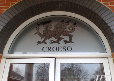 Vinyl Signage for Croeso
