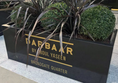 Vinyl Signage for Darbaar Indian Restaurant