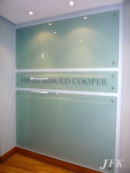 Glass Plaque for Davis Arnold Cooper