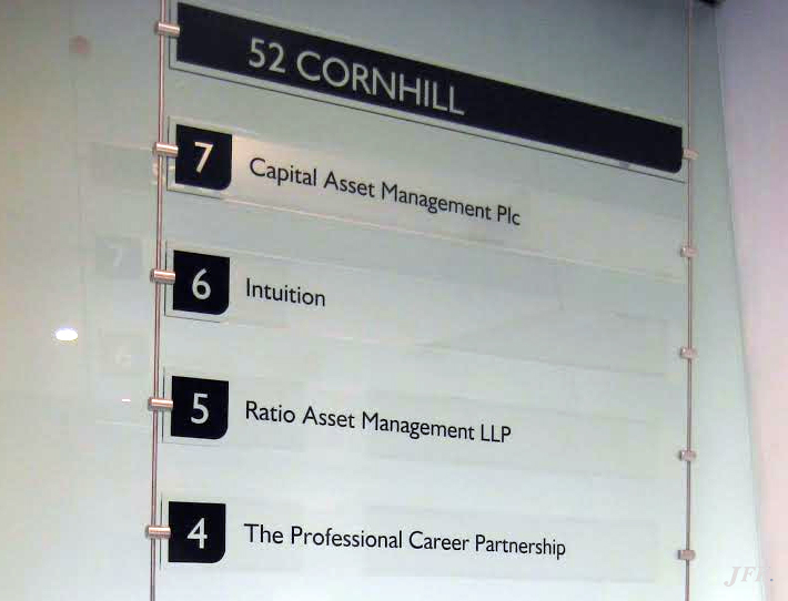 Directional Signs for 52 Cornhill