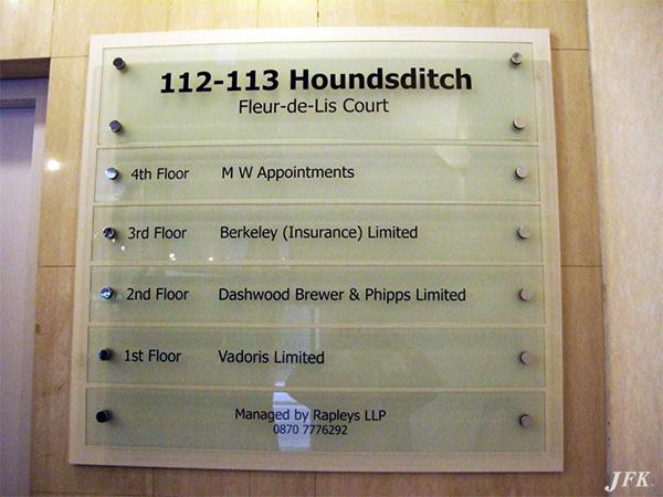 Directional Signs for Fleur-De-Lis-Court