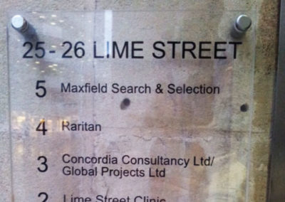 Directional Signs for Lime Street
