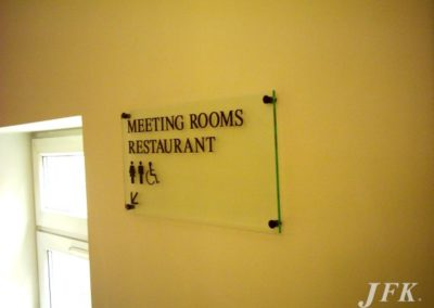 Directional Signs for London Bridge Hotel
