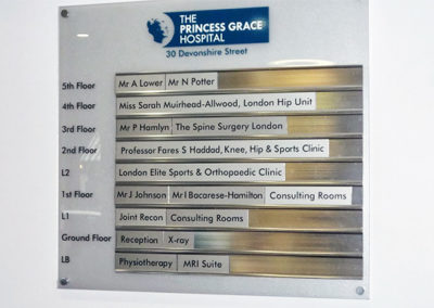 Directional Signs for Princess Grace Hospital