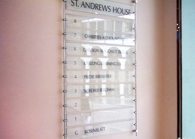Directional Signs for St. Andrews House