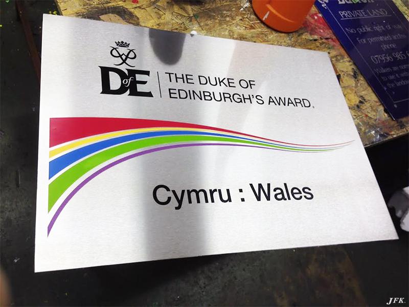 Stainless Steel Plaque for Duke Of Edinburgh'S Award