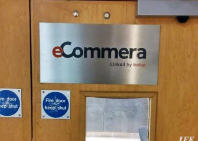 Stainless Steel Plaque for Ecommera