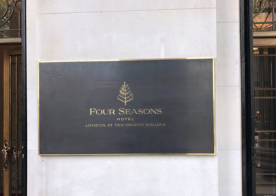 Bronze Plaque for Four Seasons Hotel
