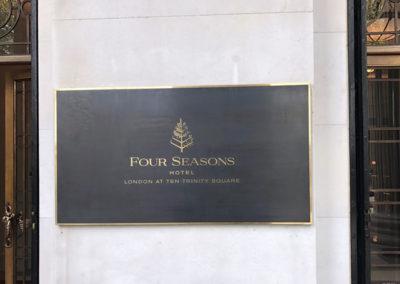 Bronze Plaque for Four Seasons Hotel
