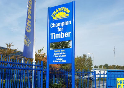 Freestanding Signs for Champion Timber