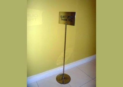 Freestanding Signs for Freestanding Brass