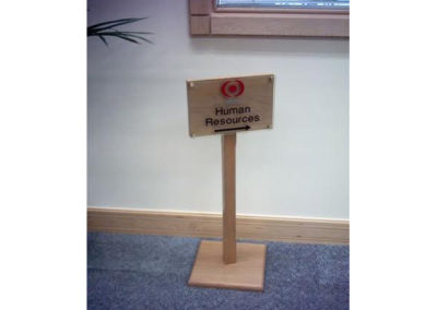 Freestanding Signs for Wood  With Acrylic Plaque
