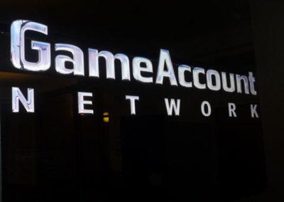 Vinyl Signage for Game Network