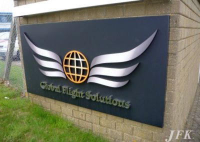 Built Up Letters for Global Flight