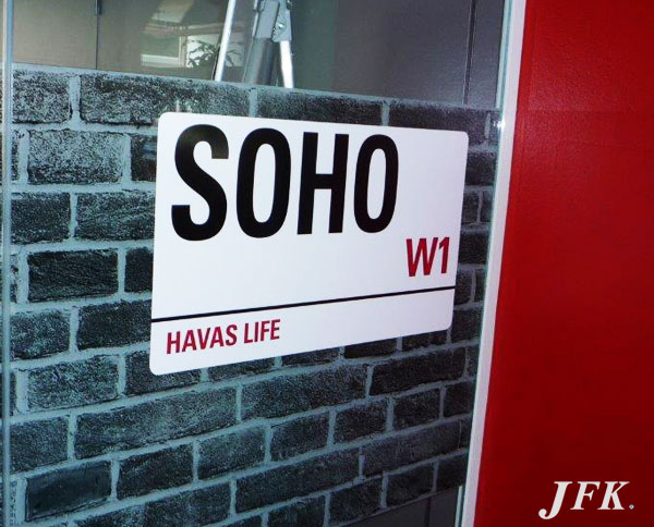 Vinyl Signage for Havas Life