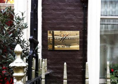 Brass Plaque for Hertfords