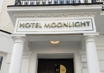 Built Up Letters for Hotel Moonlight
