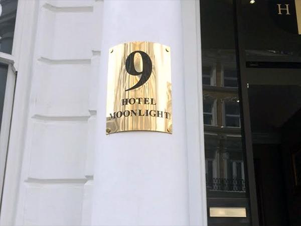 Brass Plaque for Hotel Moonlight