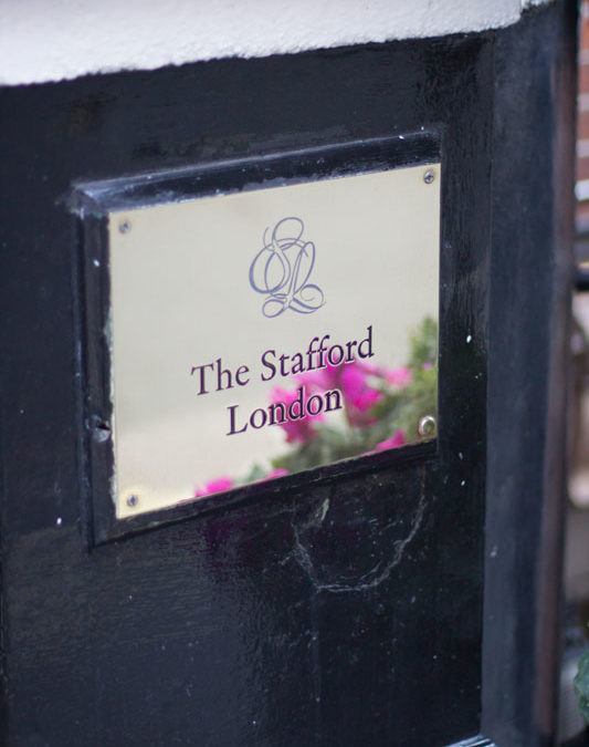 Stainless Steel Plaque for The Stafford London Hotel