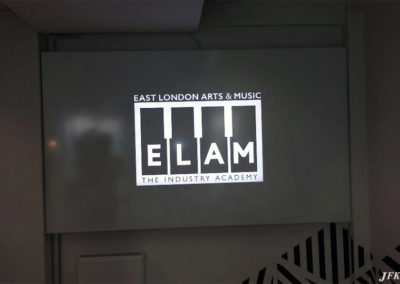 Illuminated Signs for East London Arts & Music