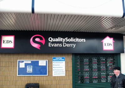 Illuminated Signs for Evans Derry Solicitors