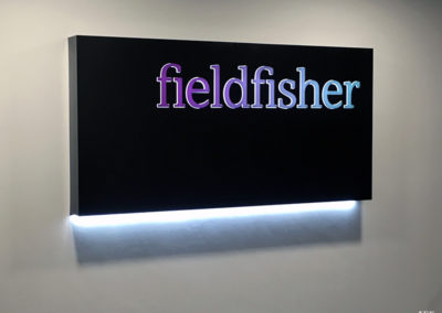 Illuminated Signs for Fieldfisher