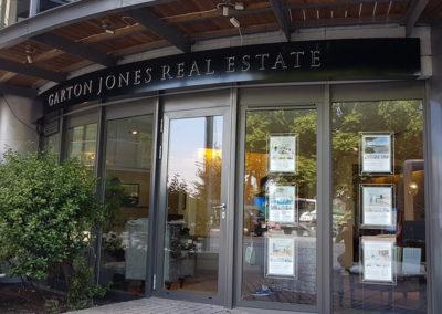 Illuminated Signs for Garton Jones Estate Agents