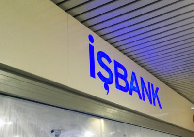 Illuminated Signs for Is Bank