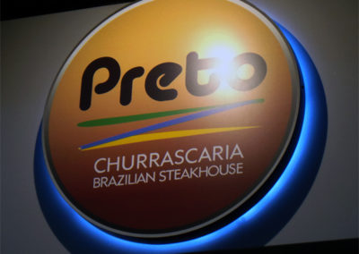 Illuminated Signs for Preto Steakhouse Restaurant
