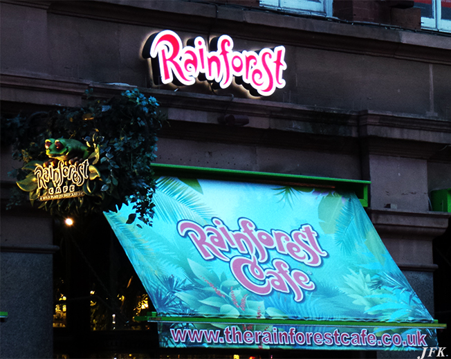 Illuminated  Signs for Rainforest Cafe