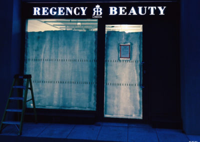 Illuminated Signs for Regency Beauty
