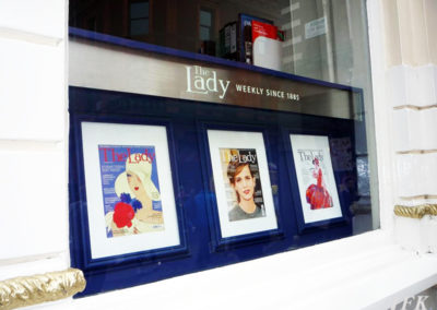 Illuminated Signs for The Lady Magazine
