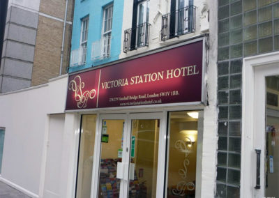 Illuminated Signs for Victoria Station Hotel