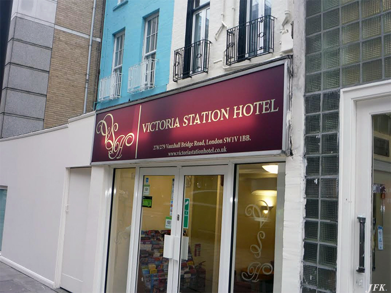 Illuminated Signs For Victoria Station Hotel Jfk Complete Sign