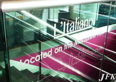Vinyl Signage for Italiano Restaurant
