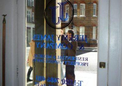 Vinyl Signage for Jeremy James