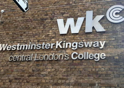 Built Up Letters for Kingsway College London
