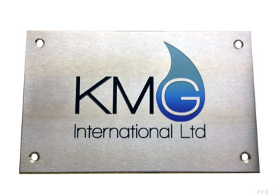 Stainless Steel Plaque for Kmg International Trading